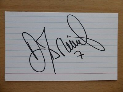 Hand Signed Football Index Cards *****D***** Page 2