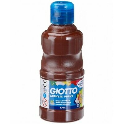 GIOTTO tempera acrilica 250 ml colore Marrone