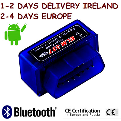 ELM 327 MINI Car Scanner Reading Diagnostic Tool Bluetooth OBD 2 Fast Delivery