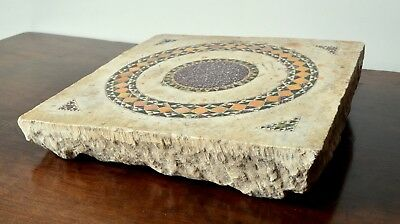 An architectural Italian cosmati tail.13th century.Porphyry Alabaster Marble