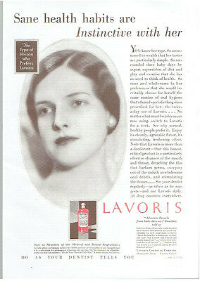Vintage, Original, 1931 - Lavoris Mouthwash Advertisement