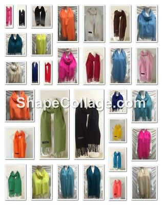 Wholesale 23Pcs $4.00 Each 100% Cashmere Scarf Made In Scotland Solid Design