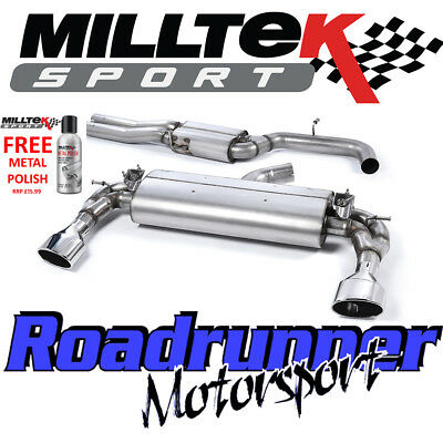 "Milltek Audi RS3 8v Sportback Cat Back Exhaust 3"" VALVED Res Polished SSXAU589"