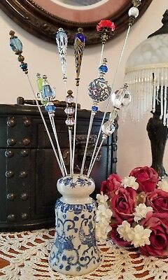 Vintage Antique Inspired Victorian Hat Pins & FREE Display Holder Collection