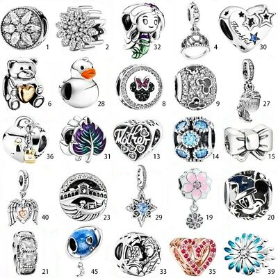 925 New Sterling European Silver Pendant Charms Bead for Bracelet Necklace IC1