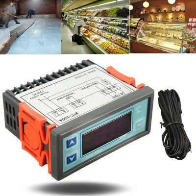 WK-010 220V Digital LCD Temp Temperature Controller Switch Thermostat Cooler Sea