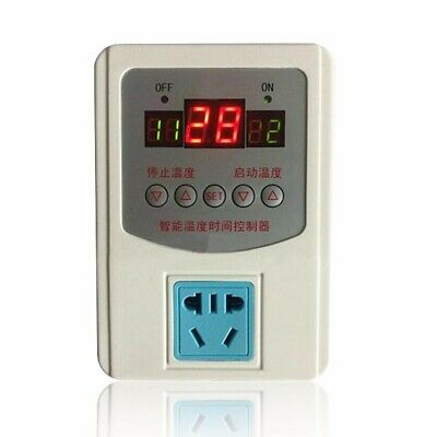 Digital LED Thermostat Temperature Controller with Magnetic Probe 220V -9-99°C
