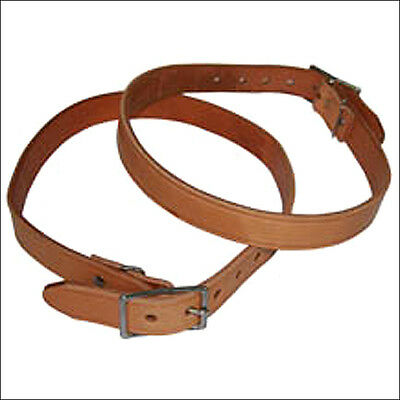 "Hilason Western Leather Horse Breast Collar Tugs W/ 1"" Wide 26"" Length Brown"