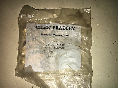 Allen Bradley X-33553 Pack Of 10 See Pictures Moveable Contacts #b46