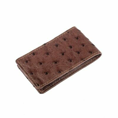 NEW Genuine Australian Leather Card Holder - Ostrich Leather