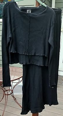 Maternity 2pc NURSING top and skirt set cotton VERY comfortable and flattering
