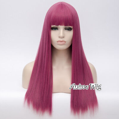 Anime For Descendants 2 Mal 65cm Long Mixed Rose Straight Cosplay Wig+Wig Cap