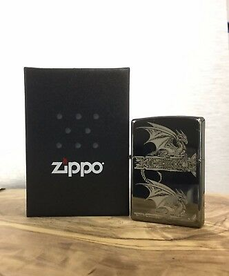 Collectable Anne Stokes 28961 Gothic Dragon Zippo Lighter Birthday Christmas