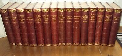 Ca 1920 - SET OF 15 ANTIQUE CHARLES DICKENS BOOKS - illustrated