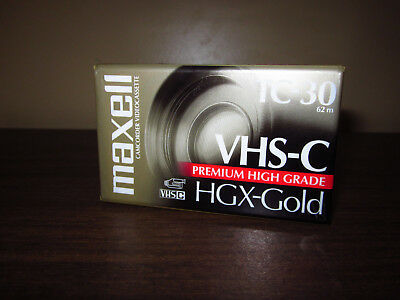 NEW! Blank Maxell VHS-C HGX-Gold TC-30 90 Minutes