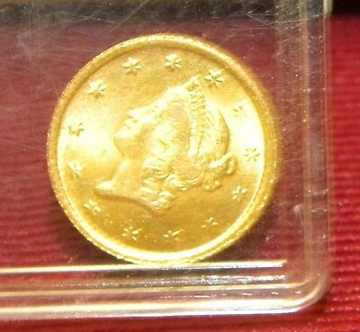 1851 Gold US $1.00 Gold Coin