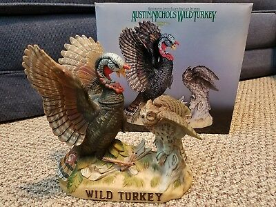 Wild Turkey and Owl No. 8 Full Size Porcelain Limited Edition Decanter with Box
