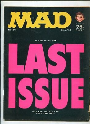 Mad #91 (4.5) Last Issue Ruse Cover
