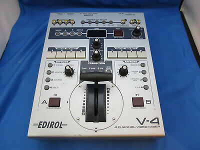 Roland Edirol V-4 Four Channel Video Mixer Switcher V4 * Retro Effects *
