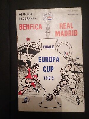 1962 European Cup Final Programme: Benfica v Real Madrid