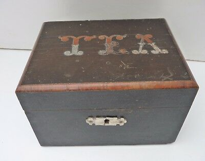Vintage Wooden Inlaid TEA Caddy Box - for restoration