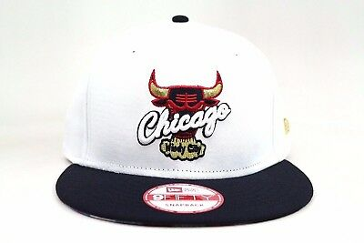 a2d5cb7a7 CHICAGO BULLS WHITE Navy Scarlet Gold AJ VII Olympic New Era 9Fifty  Snapback Hat