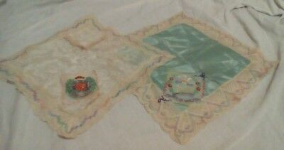 Embroidered silk and lace handkerchiefs, Royal Engineers