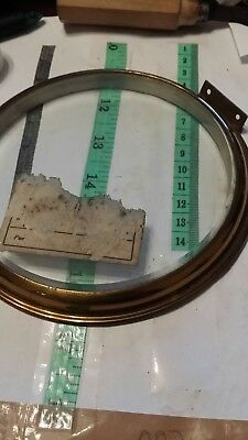antique clock beveled glass and surround