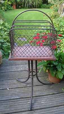 Antique Edwardian Mahogany & Brass Revolving Book~Newspaper~Magazine Stand