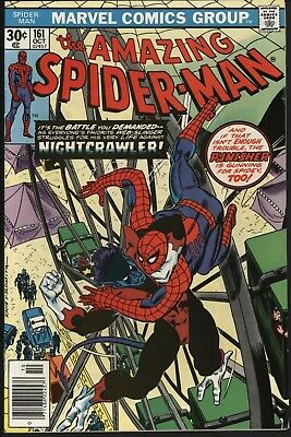 Amazing Spider-Man #161 Vs Nightcrawler! White Pages Affordable Copy!