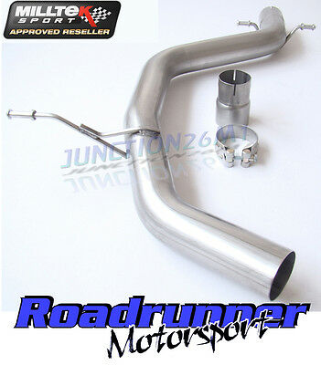 Golf GTI MK5 & ED30 Milltek Exhaust Stainless Non Res Centre Section Pipe 2.75""
