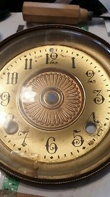 antique clock face plate and Glass hinged