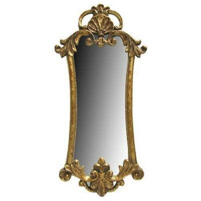Ornate Antique Style Vintage Gold Gilt Rococo Baroque Mirror   FREE/Fast Ship.