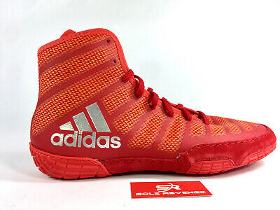 ADIDAS adizero VARNER 2 Wrestling Shoes MMA Boxing Red Silver Gray BA8023 cd1