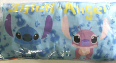 RARE Japan Disney Lilo & Stitch & Angel Ukeleles Music Notes XL Pillow