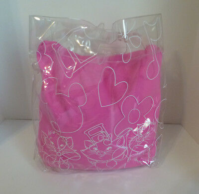 Japan Disney Aristocats Marie Berlioz Toulouse Squishy Bean Pillow in Carry Case