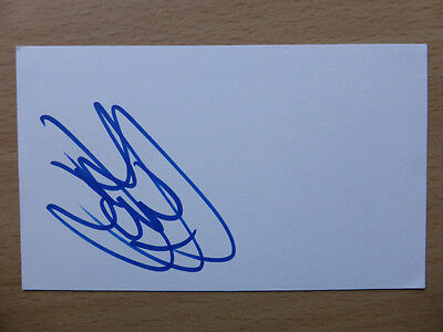 Hand Signed Football Index Cards *****J***** Page 1