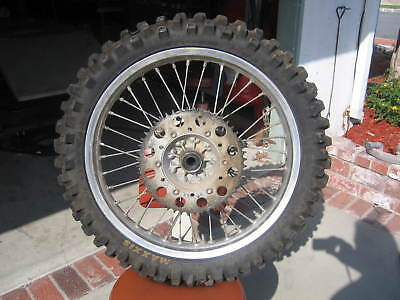 1989 89 Kx250 Kx500 Oem Rear Wheel Disc Sprocket Hub Spokes Tire 41090-1072 Nice