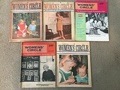 Lot Of 5 Vintage 1960/1970's Women's Circle Magazines
