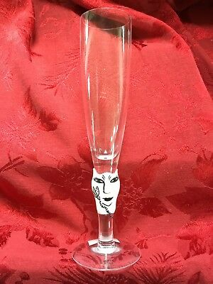 NEW FLAWLESS Exquisite KOSTA BODA Crystal OPEN MINDS Champagne GLASS FLUTE