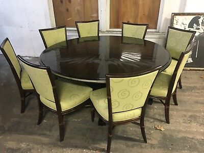 McGuire San Francisco (8) Dining Chairs Bamboo Rattan Modern