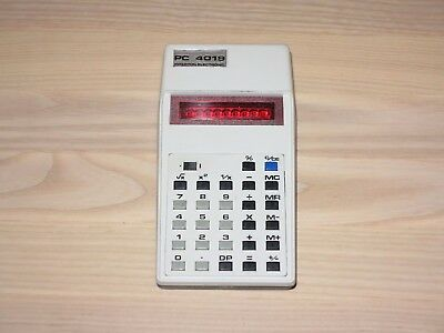 INTERTON ELECTRONIC PC 4019 Calculatrice des années 70 VINTAGE EN MINT