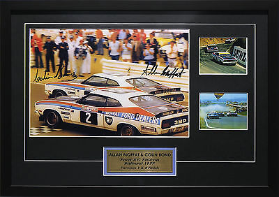 Allan Moffat & Colin Bond Ford Xc Falcon  Signed Framed Motor Racing Memorabilia