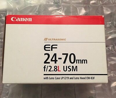 CANON EF 24-70mm f/2.8L USM - EMPTY LENS BOX ONLY