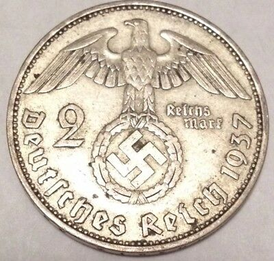 SILVER Coin Second World War 2 Third Reich Army Military Army Old Antique US