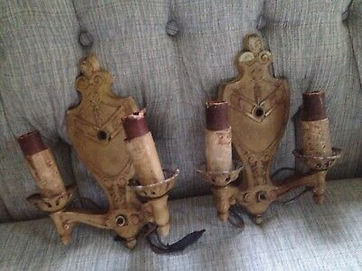 Vintage/Antique Markel Light Sconce Pair Lights