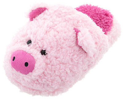 NEW Fuzzy Cute Pink Pig Slippers for Women Animal Slip-On Plush Novelty