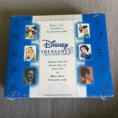 2003 Disney Treasures Series 1 Trading Cards - Rare- Factory Sealed Box 24 Packs