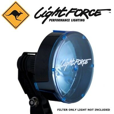 Lightforce Logo Lance 140mm Spot Driving light filter cover Crystal Blue FBLUCLD