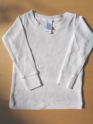 New Rabbit Skins Toddler Cotton Long Sleeve T-Shirt For 2 Y.o. - White